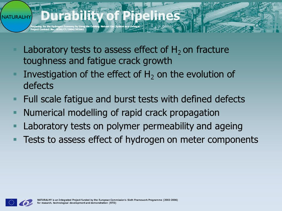 Durability of Pipelines