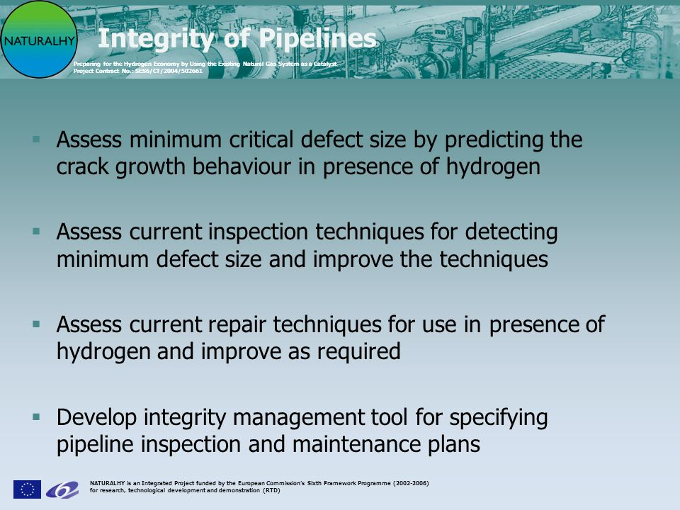 Integrity of Pipelines