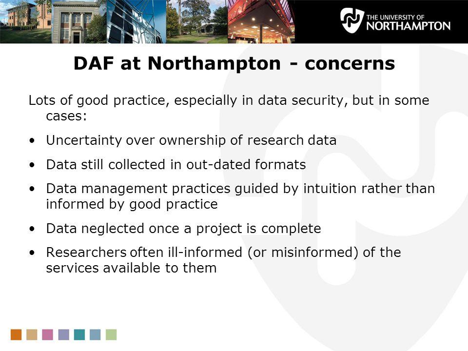DAF at Northampton - concerns