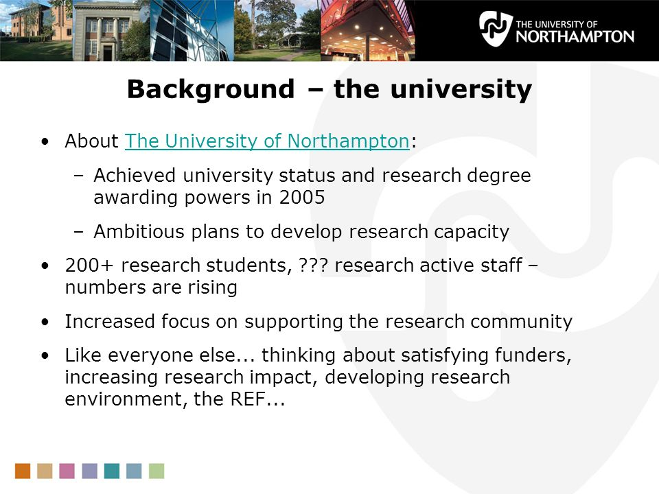Background – the university