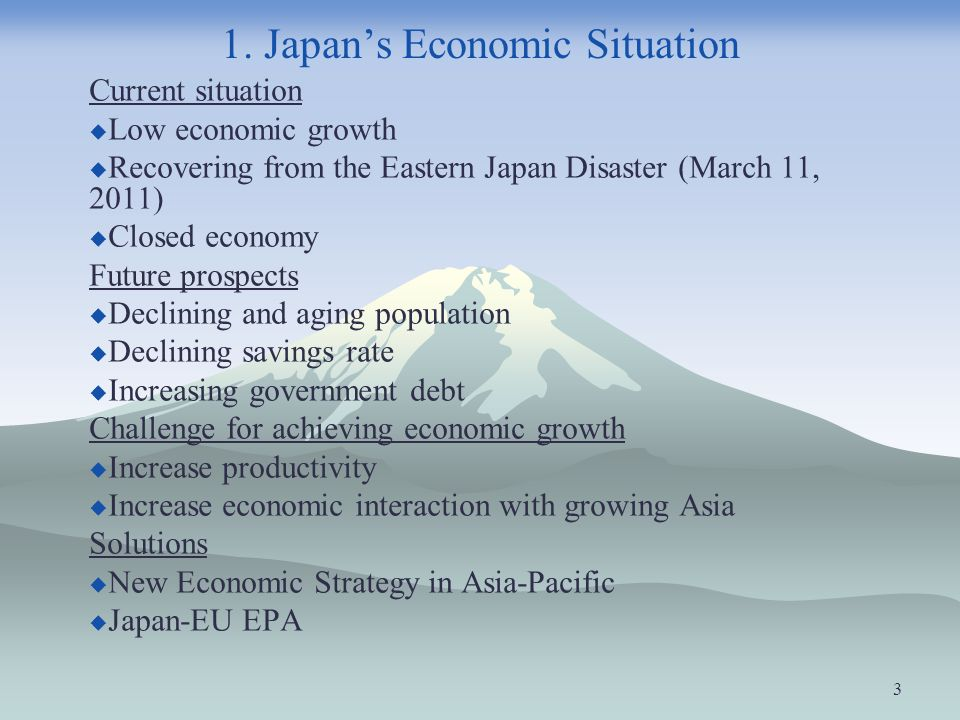 1. Japan's Economic Situation