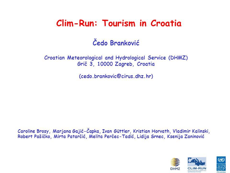 Clim-Run: Tourism in Croatia