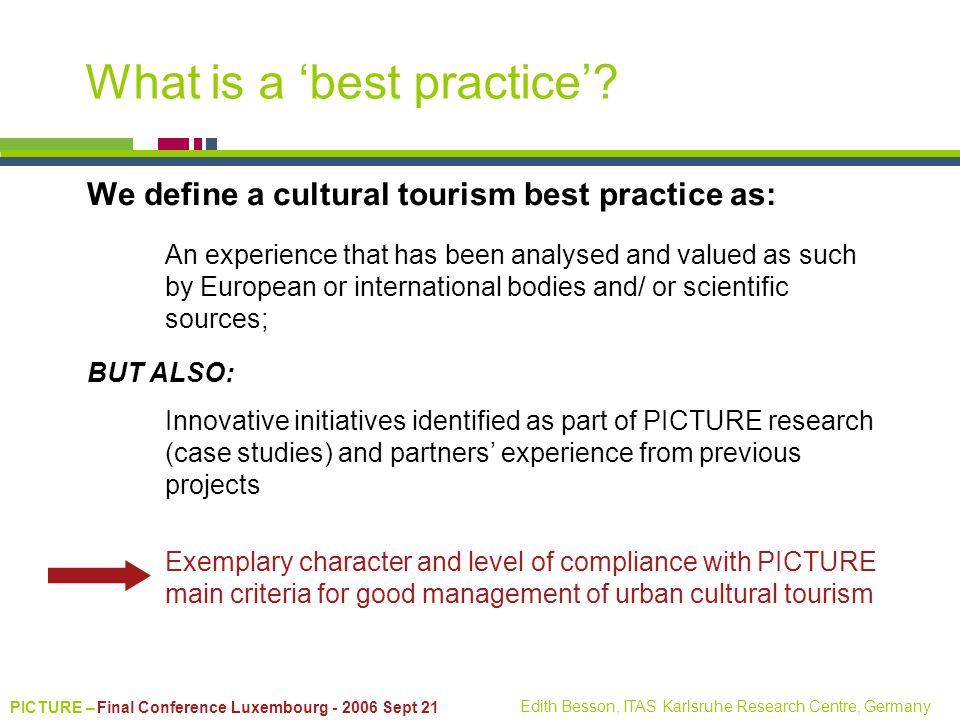 What is a 'best practice'