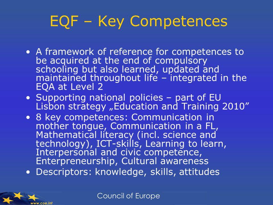 EQF – Key Competences
