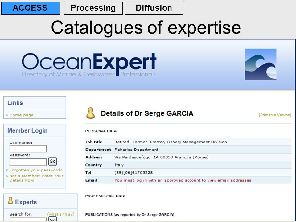 Catalogues of expertise