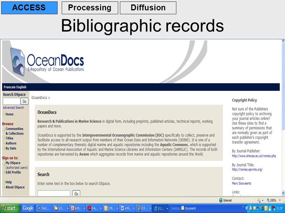 Bibliographic records
