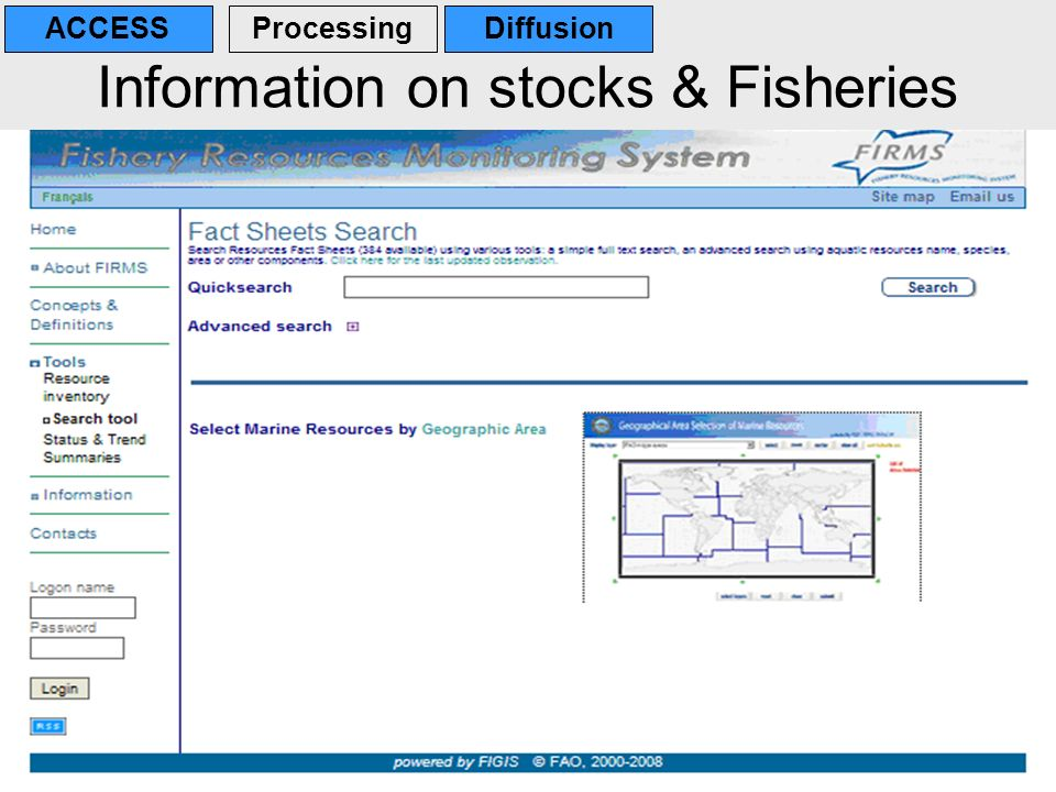 Information on stocks & Fisheries