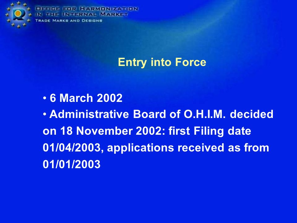 Entry into Force 6 March 2002.
