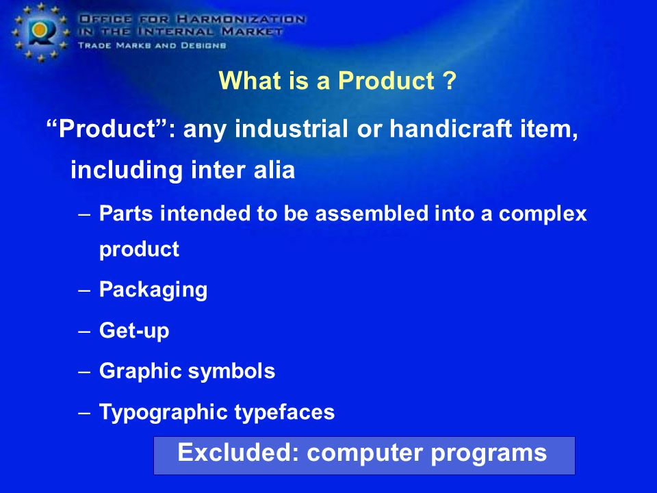 Excluded: computer programs