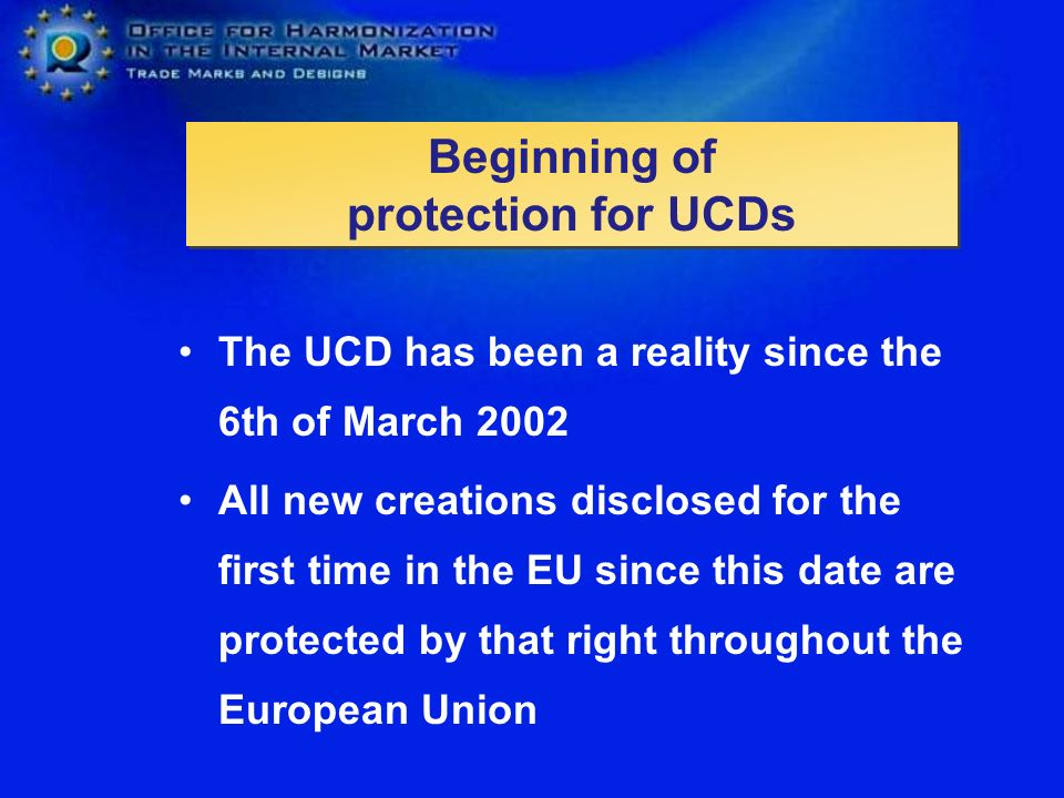 Beginning of protection for UCDs