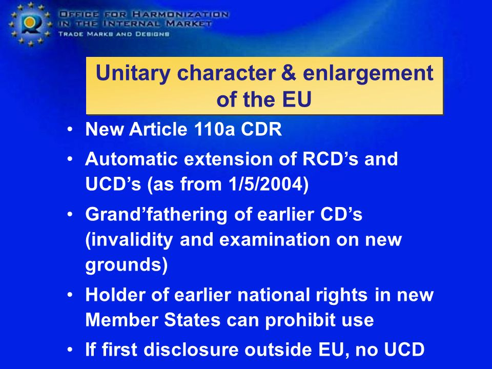 Unitary character & enlargement of the EU