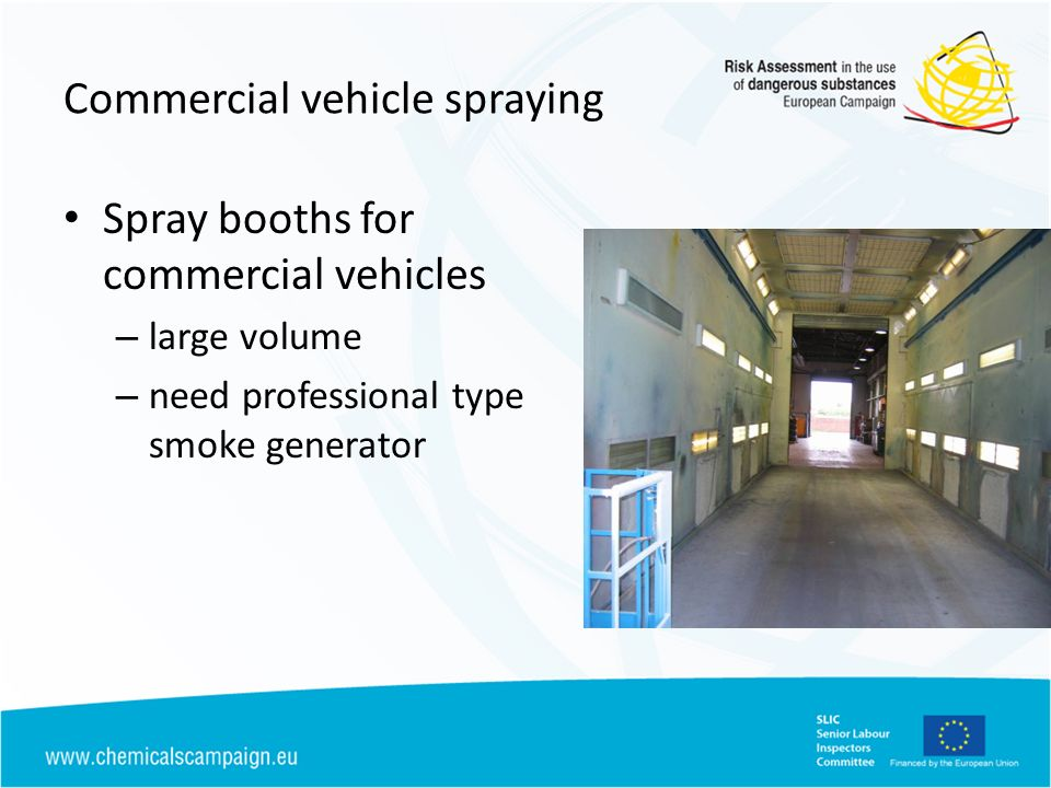 Commercial vehicle spraying