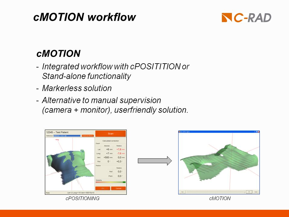 cMOTION workflow cMOTION