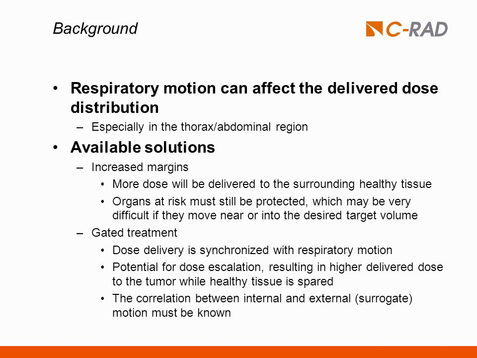 Respiratory motion can affect the delivered dose distribution