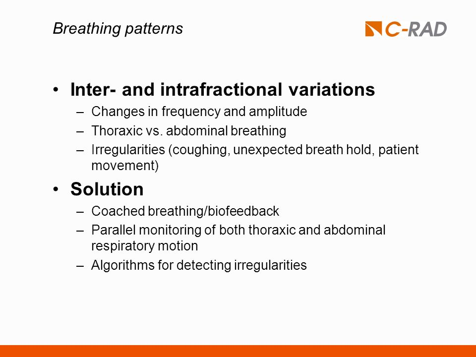 Inter- and intrafractional variations