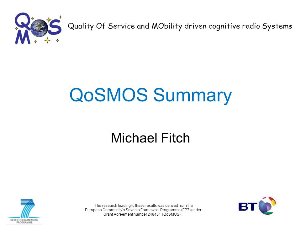 QoSMOS Summary Michael Fitch