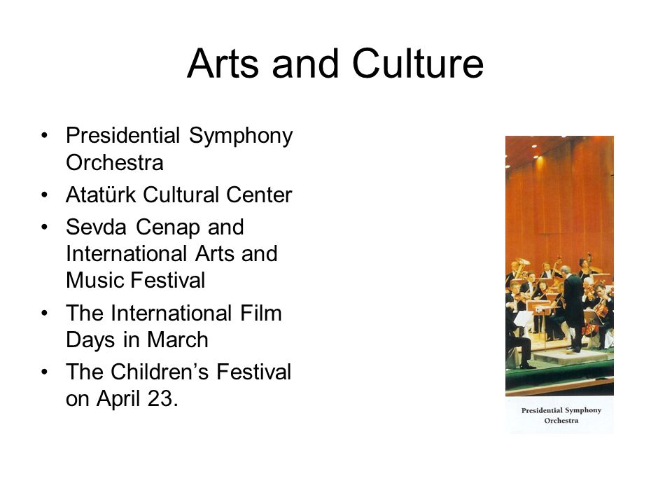 Arts and Culture Presidential Symphony Orchestra