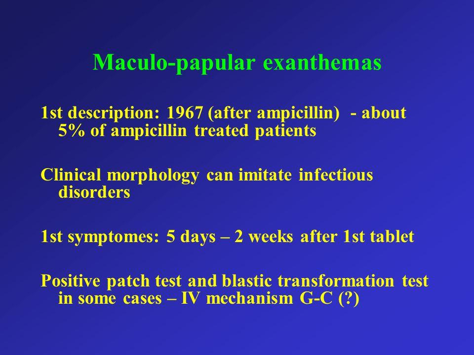 Maculo-papular exanthemas