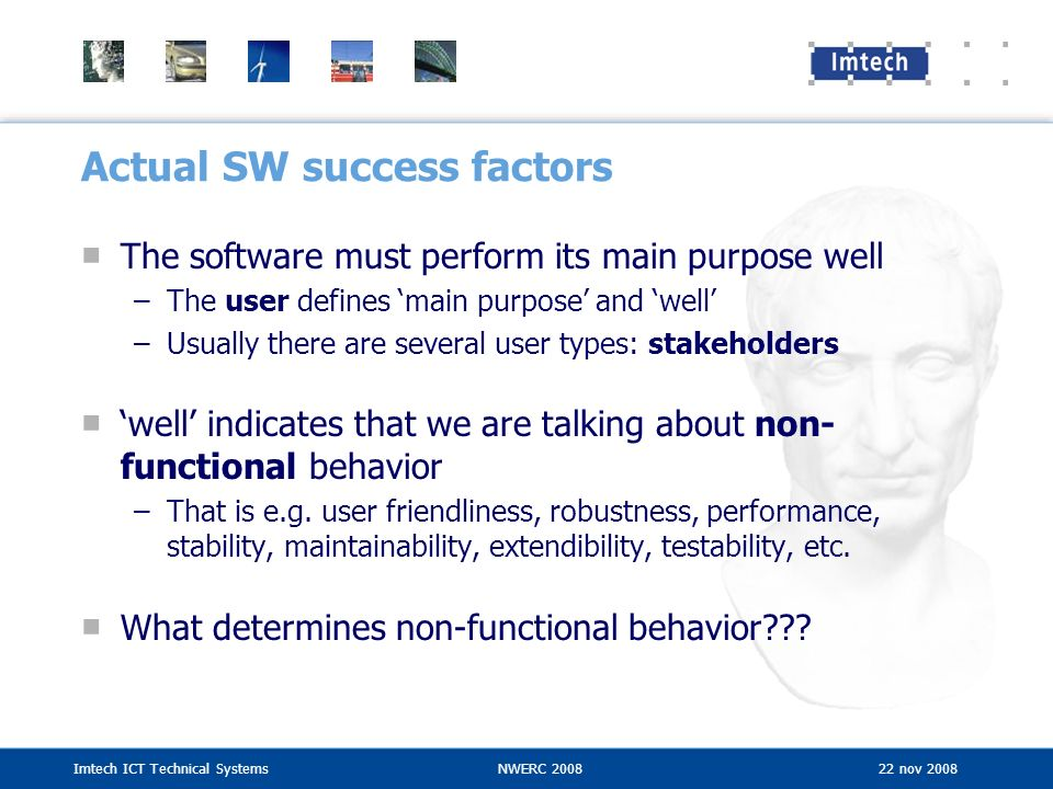 Actual SW success factors