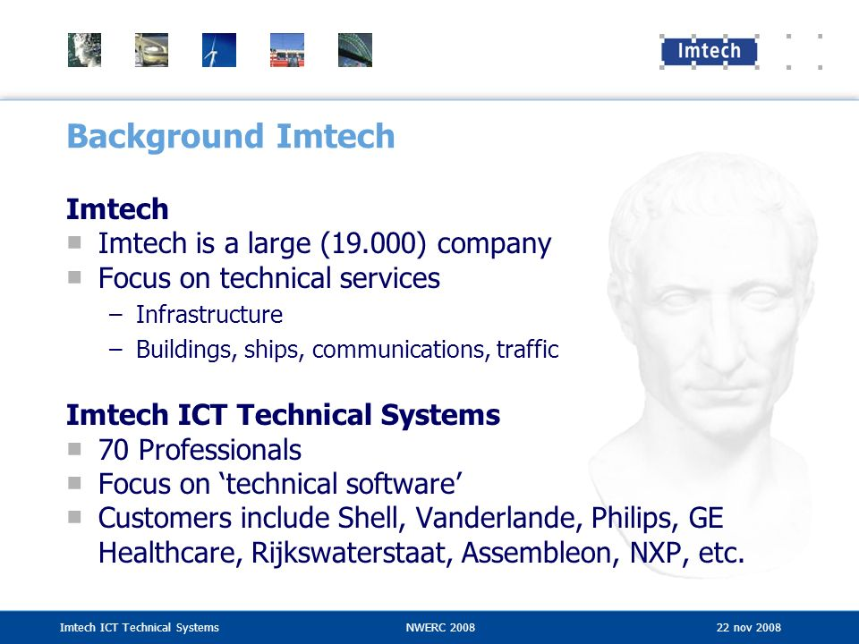 Background Imtech Imtech Imtech is a large (19.000) company