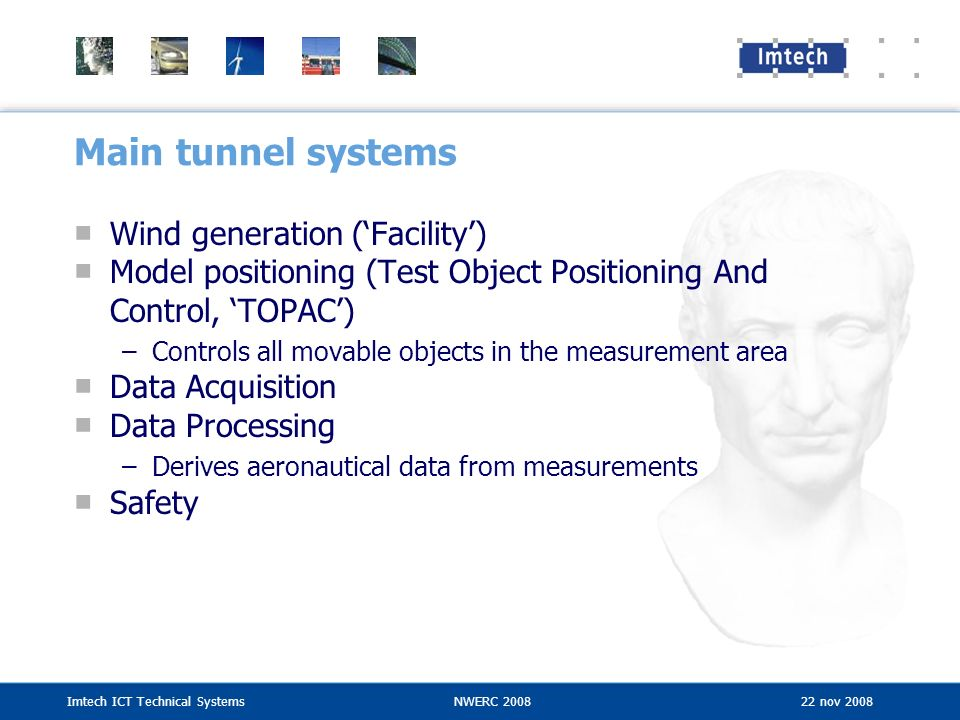 Main tunnel systems Wind generation ('Facility')