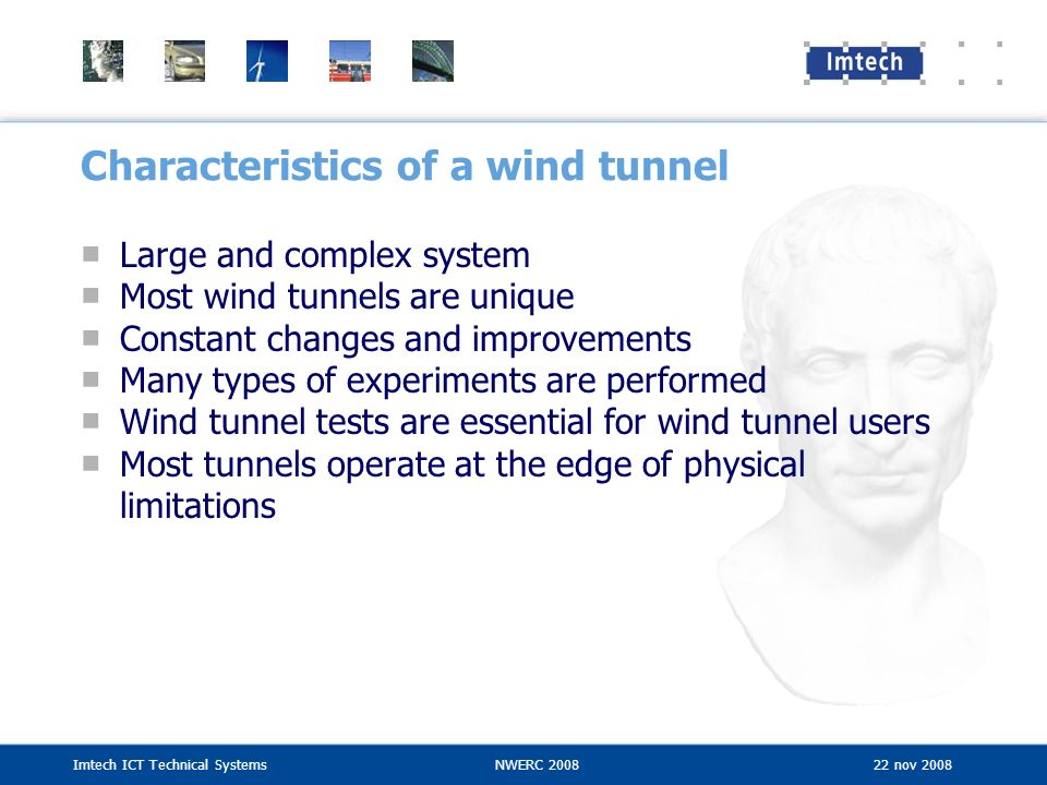 Characteristics of a wind tunnel