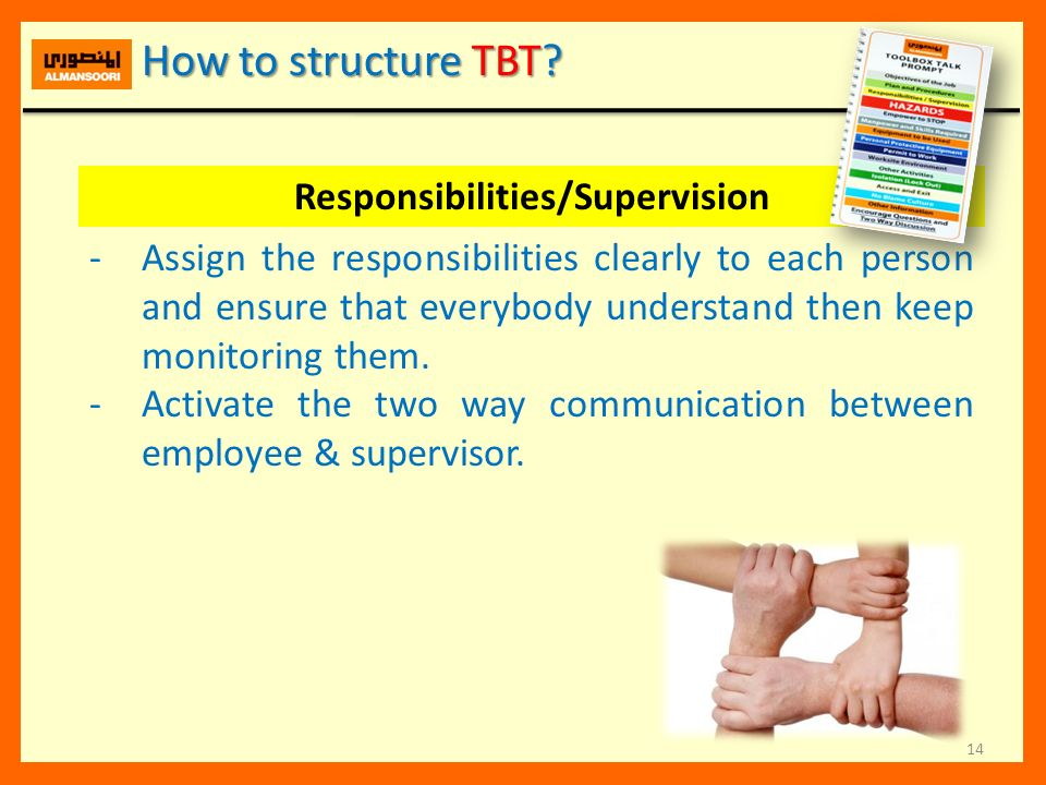 Responsibilities/Supervision