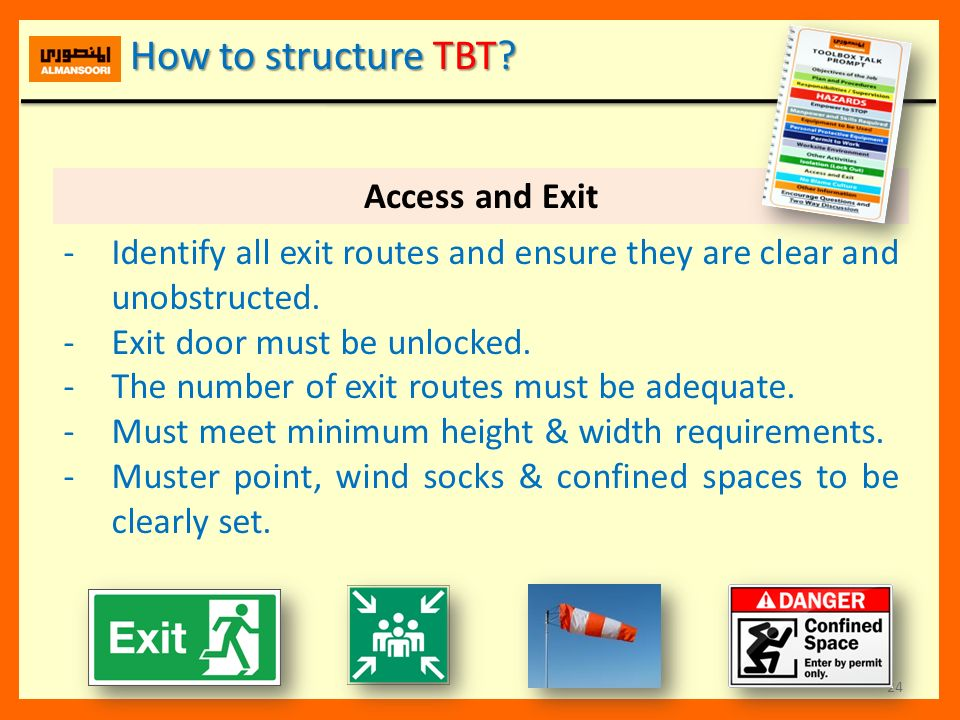 How to structure TBT Access and Exit