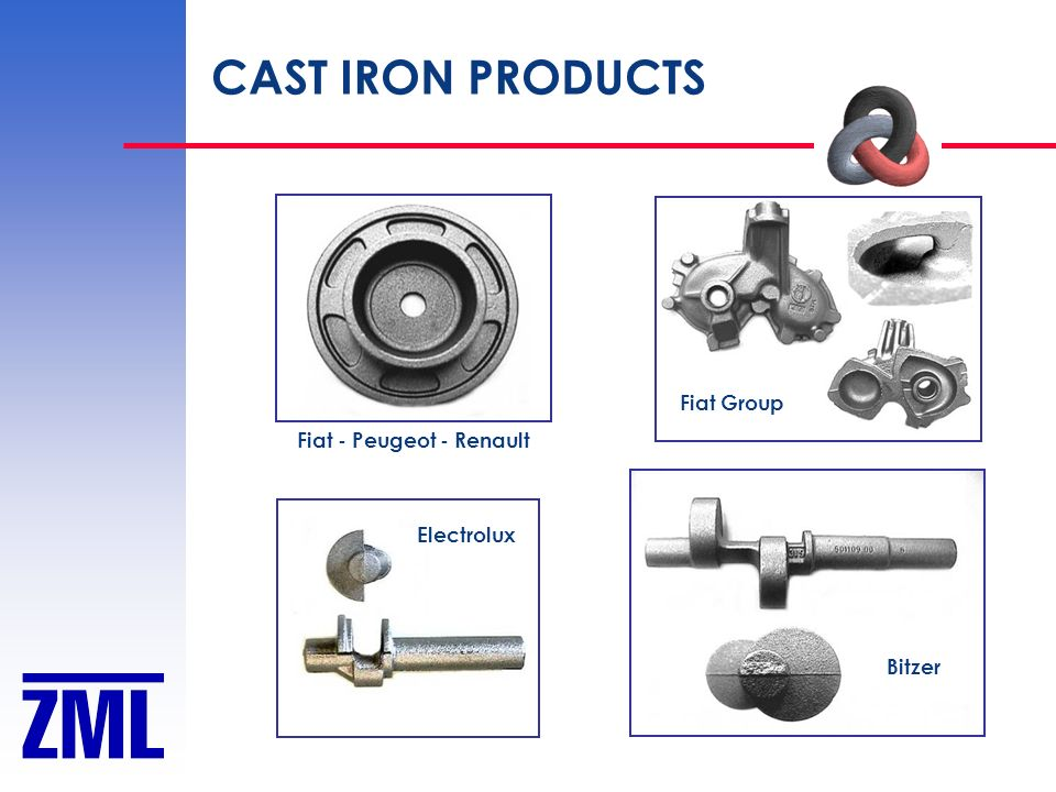 CAST IRON PRODUCTS Fiat Group Fiat - Peugeot - Renault Electrolux