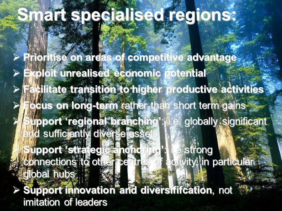 Smart specialised regions: