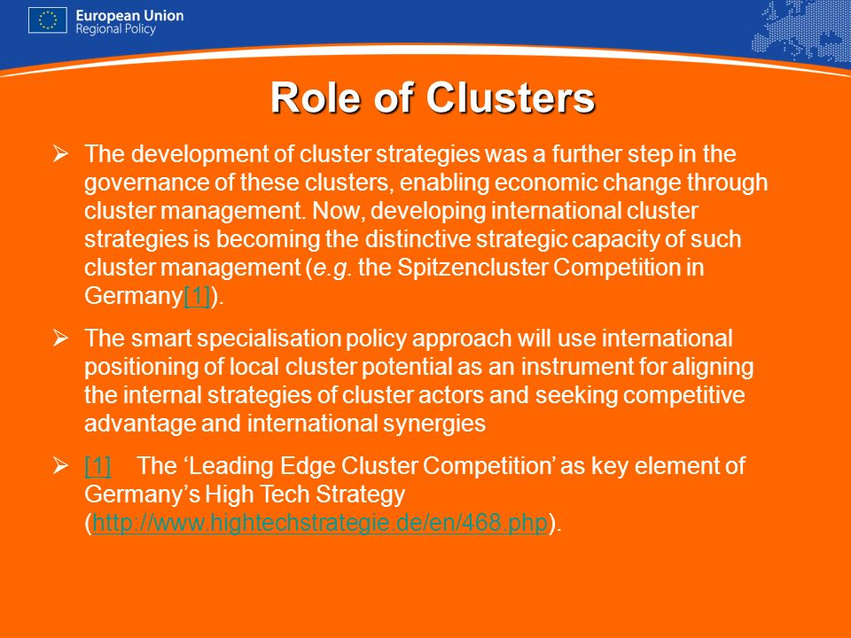 Role of Clusters