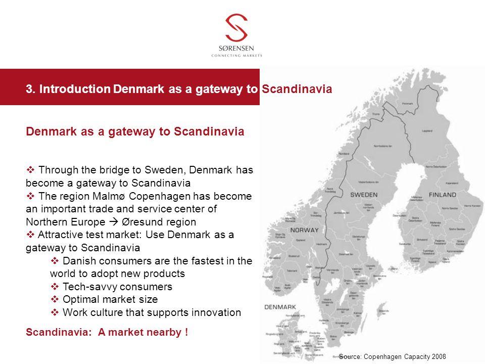 3. Introduction Denmark as a gateway to Scandinavia