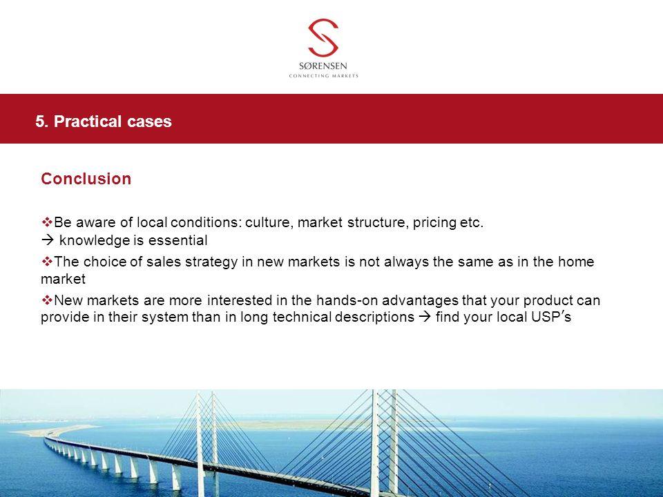 5. Practical cases Conclusion