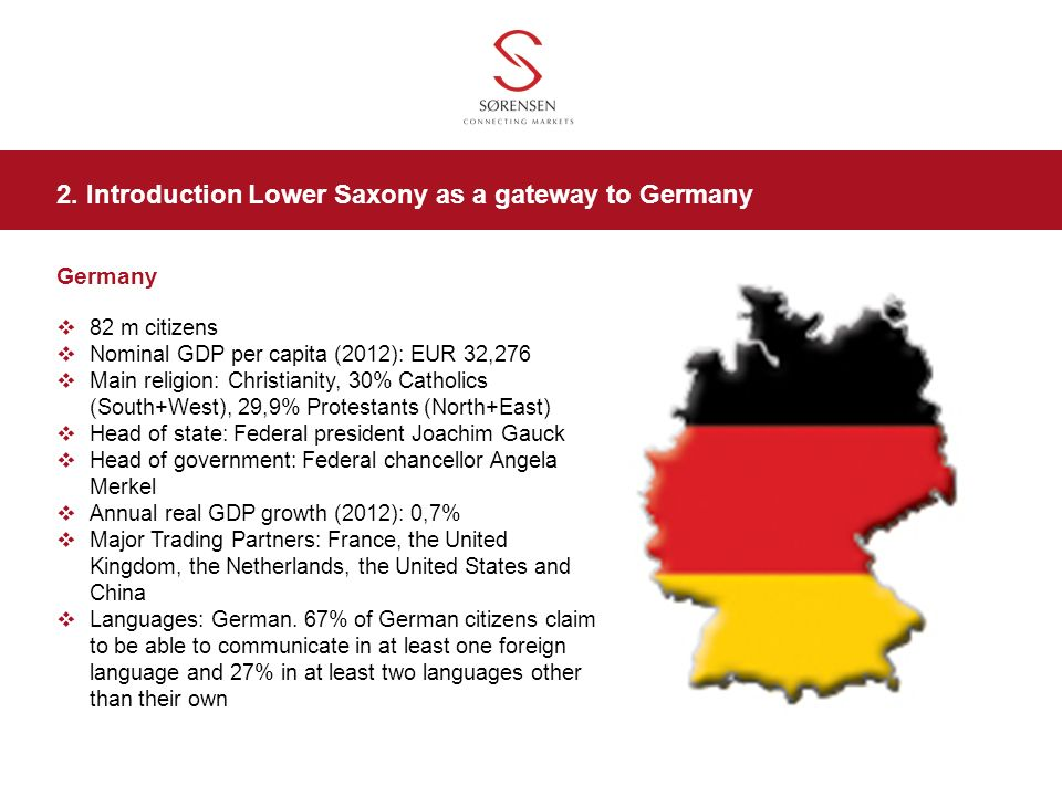 2. Introduction Lower Saxony as a gateway to Germany
