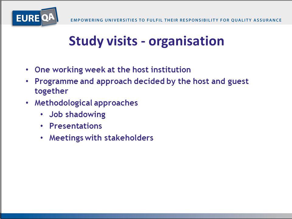Study visits - organisation