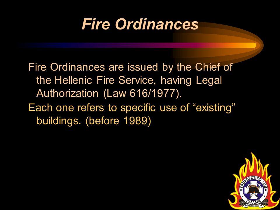 Fire Ordinances