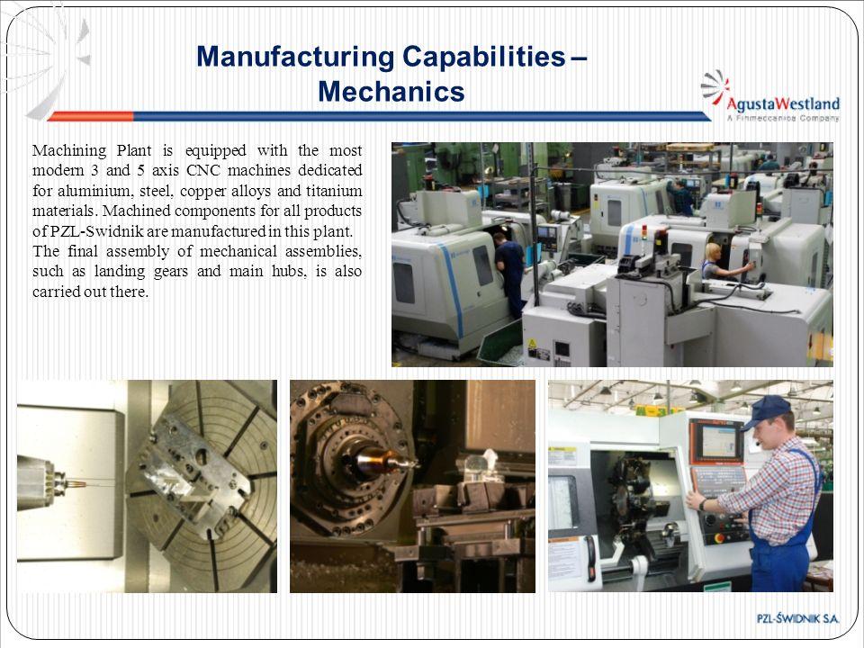 Manufacturing Capabilities – Mechanics