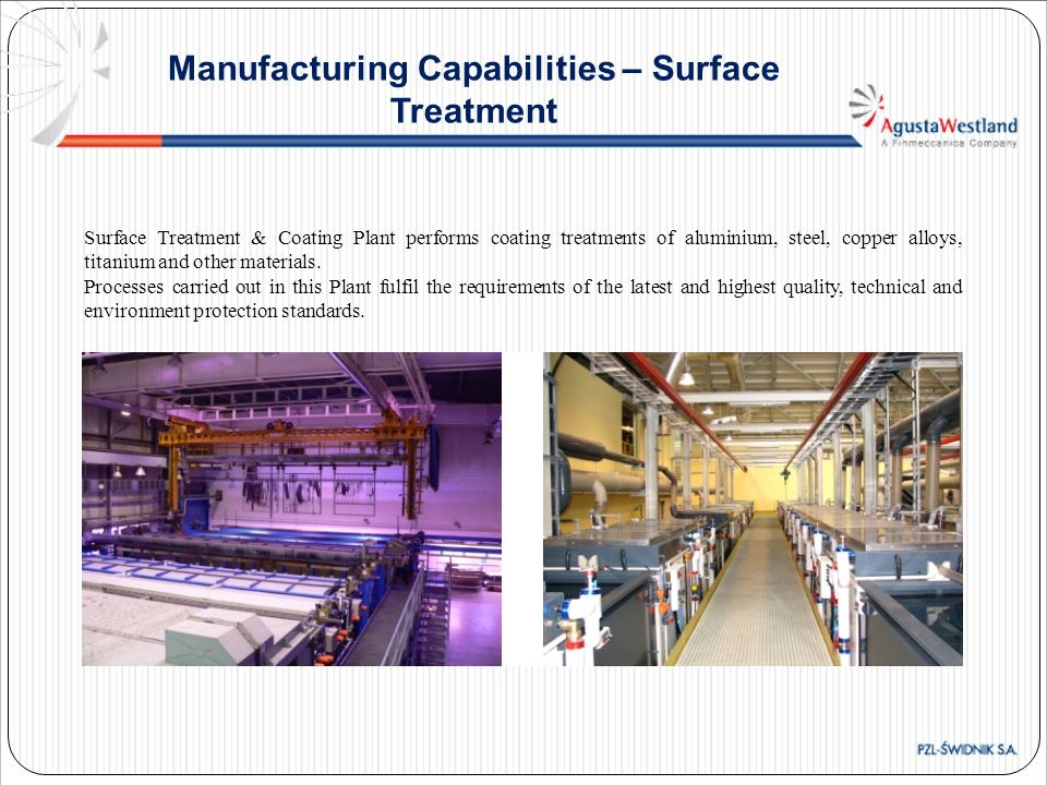 Manufacturing Capabilities – Surface Treatment
