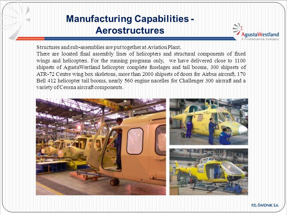 Manufacturing Capabilities - Aerostructures