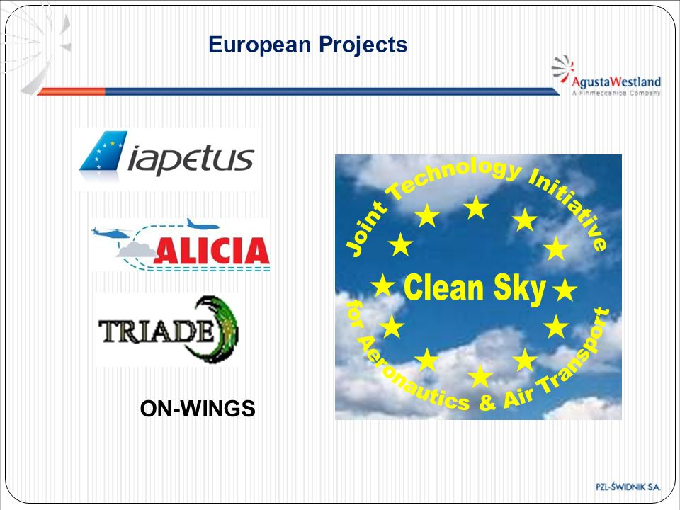 Clean Sky European Projects for Aeronautics & Air Transport