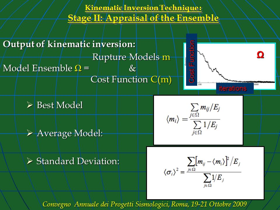 Kinematic Inversion Technique : Stage II: Appraisal of the Ensemble