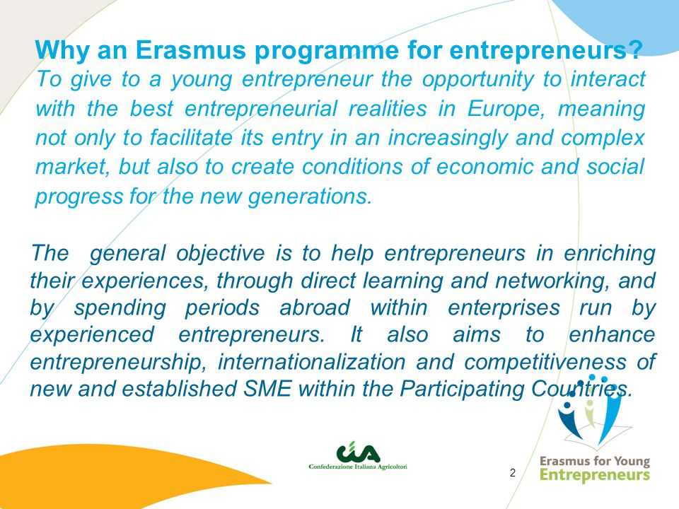 Why an Erasmus programme for entrepreneurs
