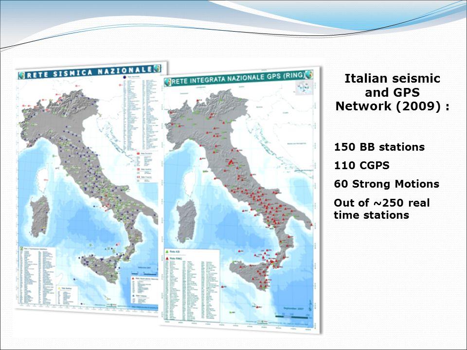 Italian seismic and GPS Network (2009) :