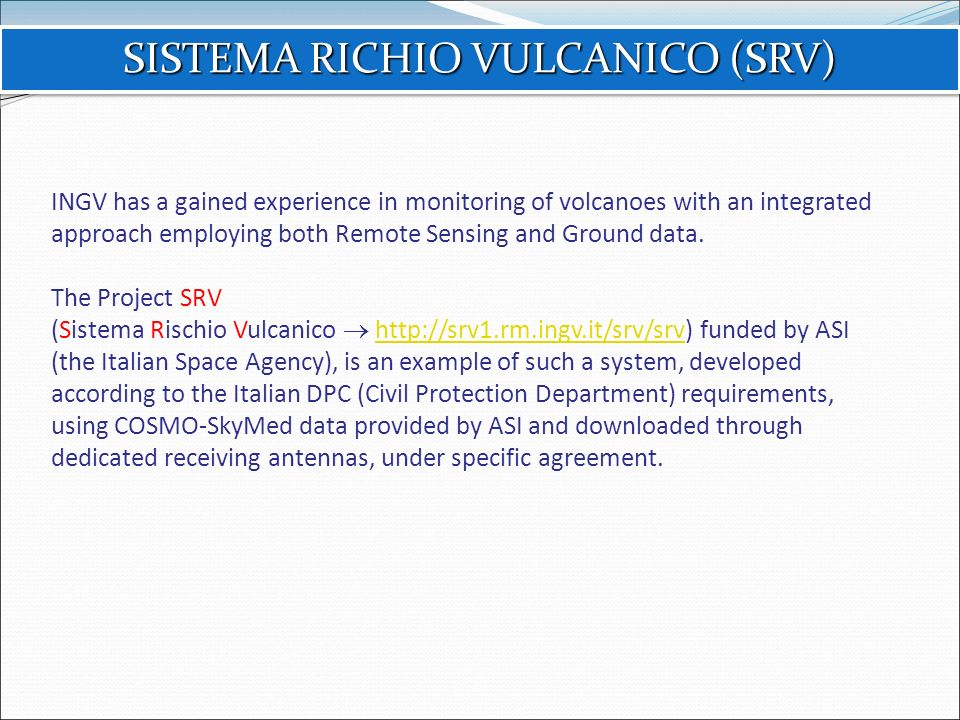 SISTEMA RICHIO VULCANICO (SRV)