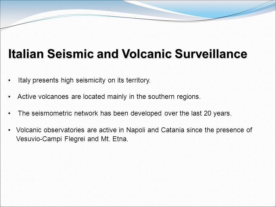 Italian Seismic and Volcanic Surveillance