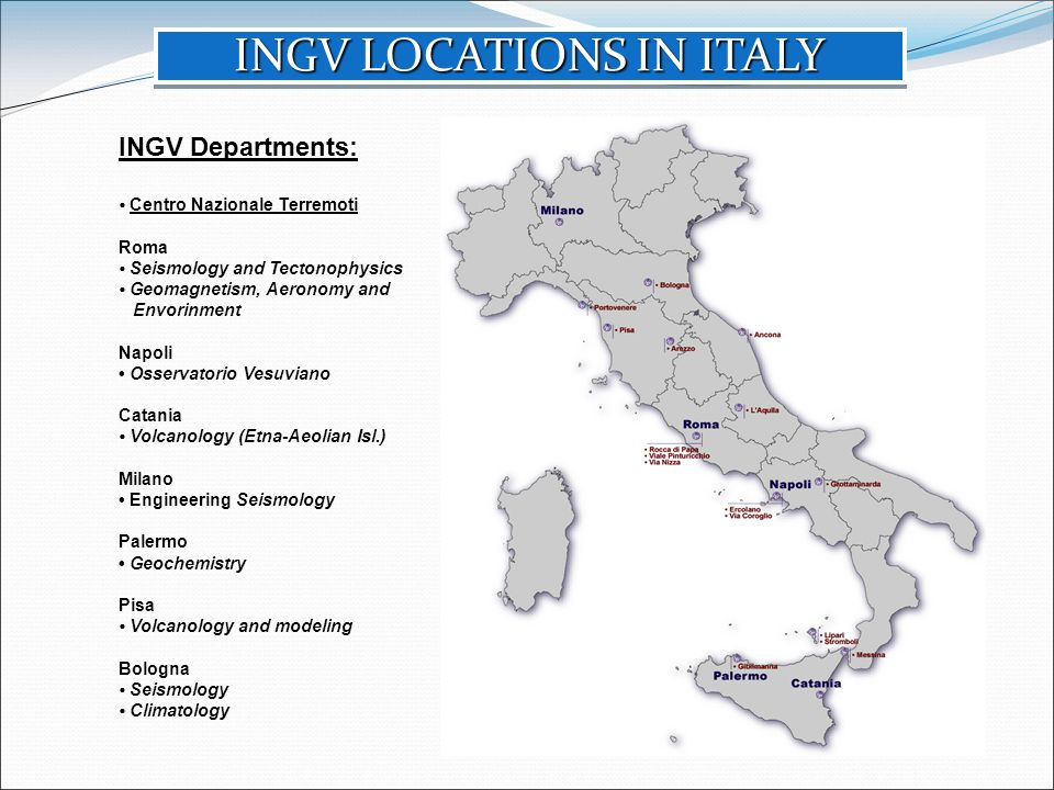 INGV LOCATIONS IN ITALY