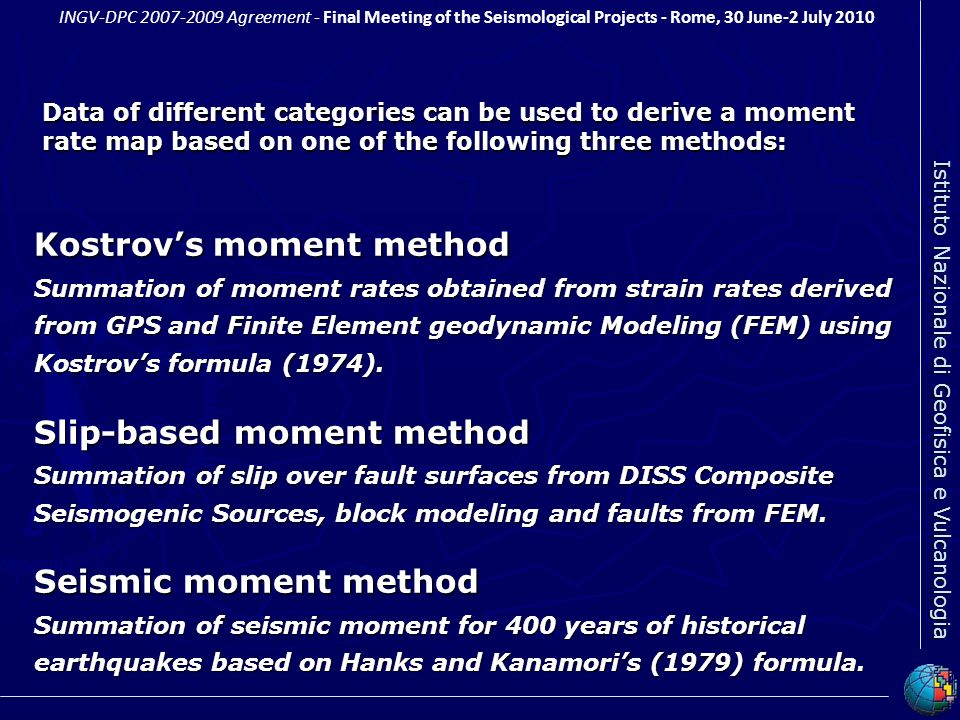 Kostrov's moment method