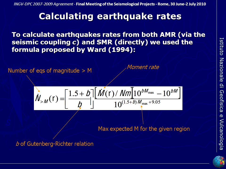 Calculating earthquake rates