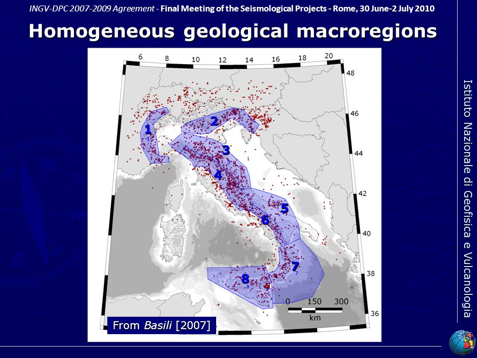 Homogeneous geological macroregions