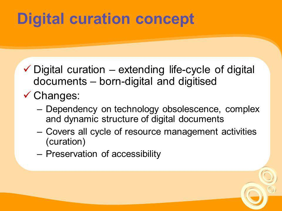 Digital curation concept